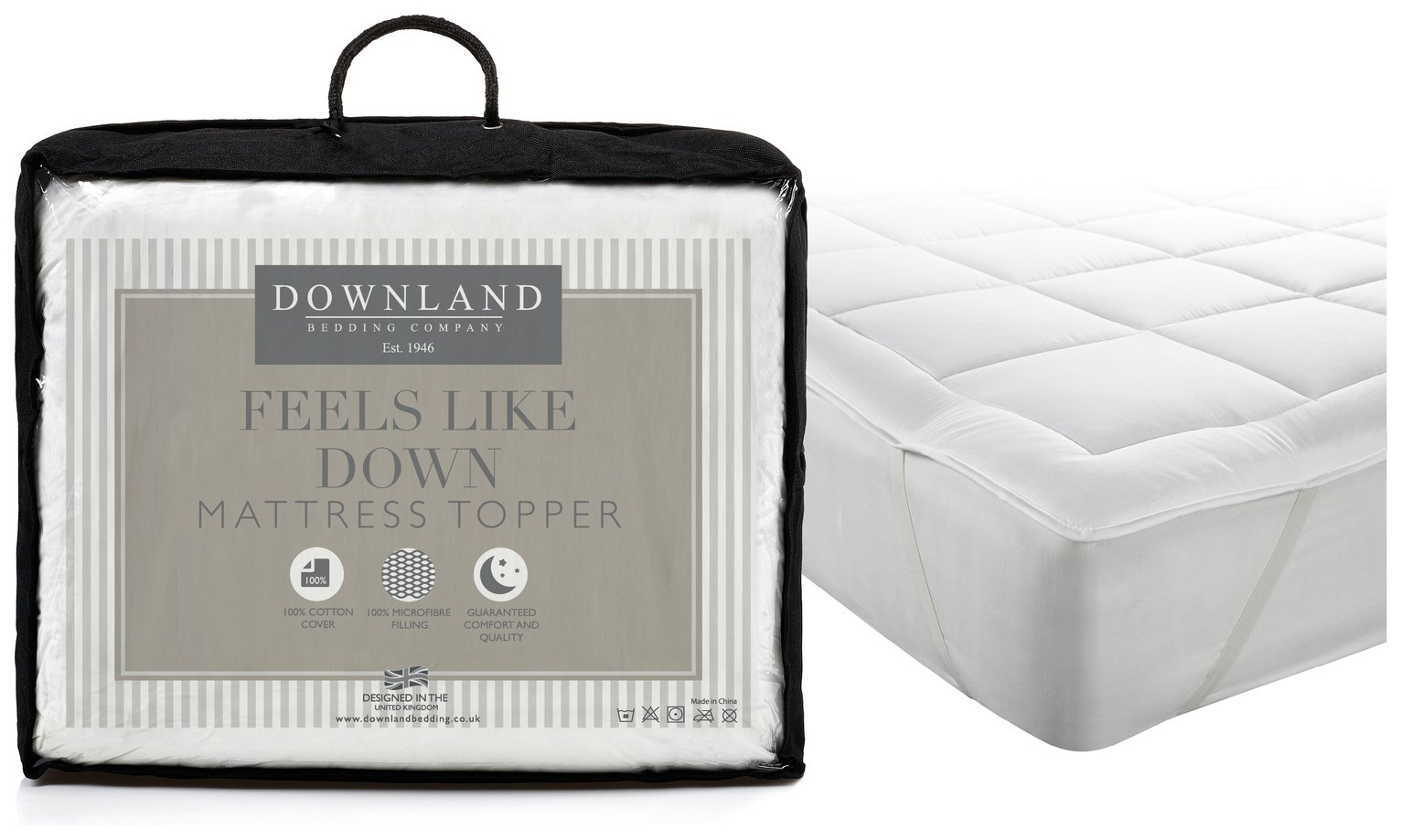 Downland Feels Like Down Mattress Topper - Double
