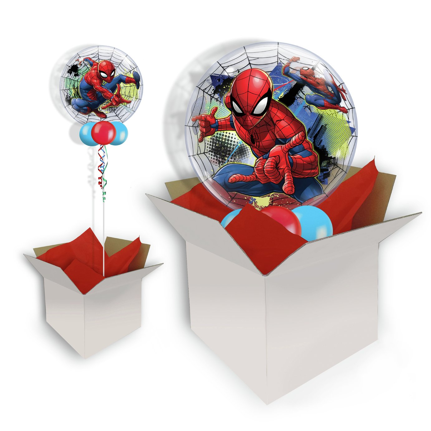 Marvel Spider-Man Web Bubble Balloon In A Box