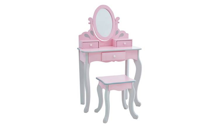Teamson Kids Princess Rapunzel Vanity & Stool Set