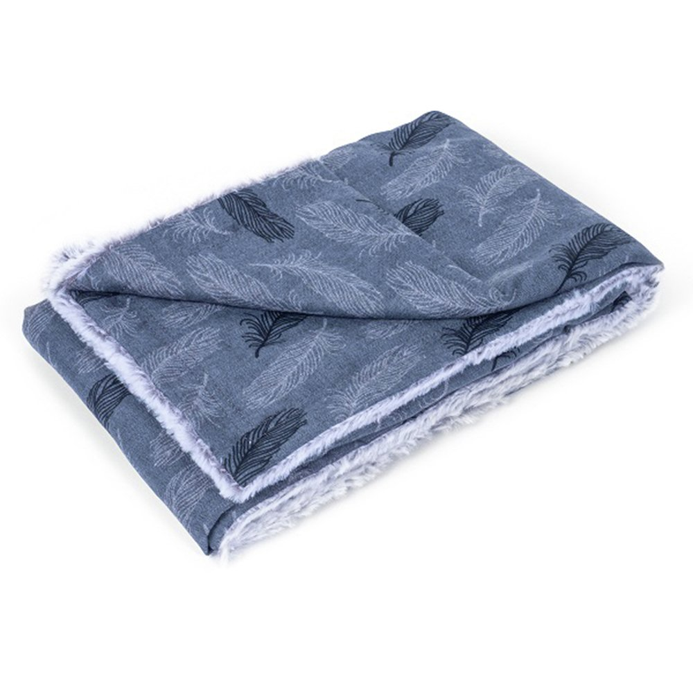 Petface Grey Feather Dog Blanket