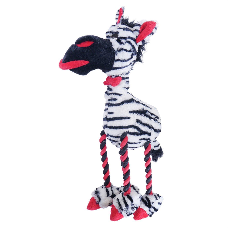 Rosewood Large Plush Zebra Dog Toy