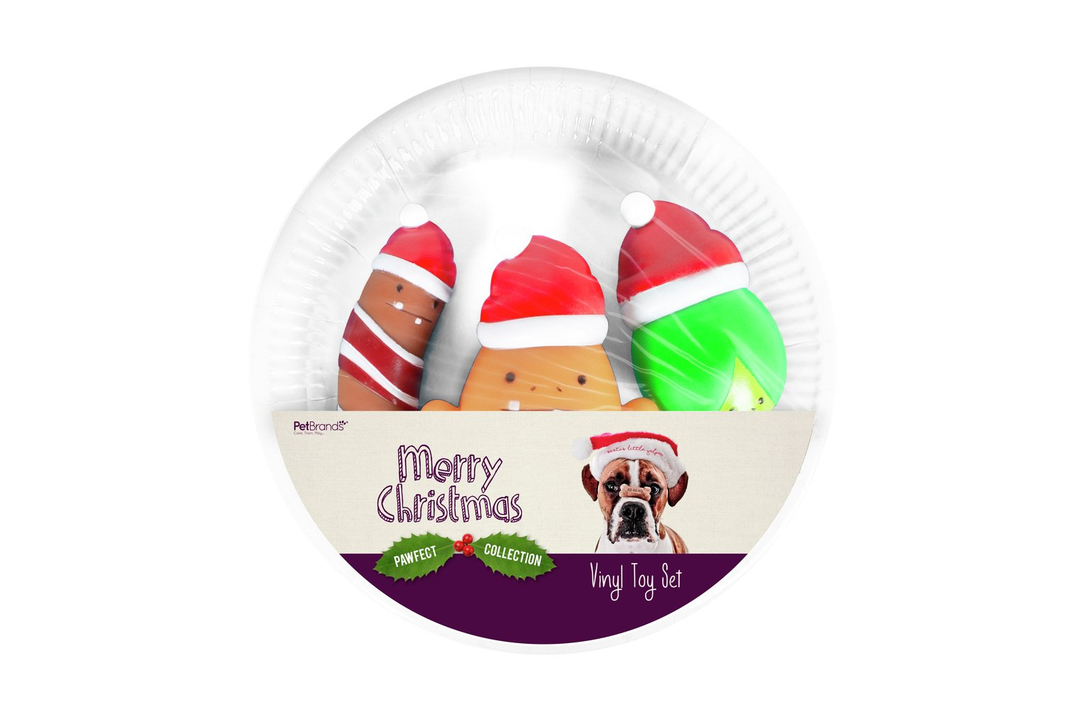 Squeeky Christmas Dinner Toy Set