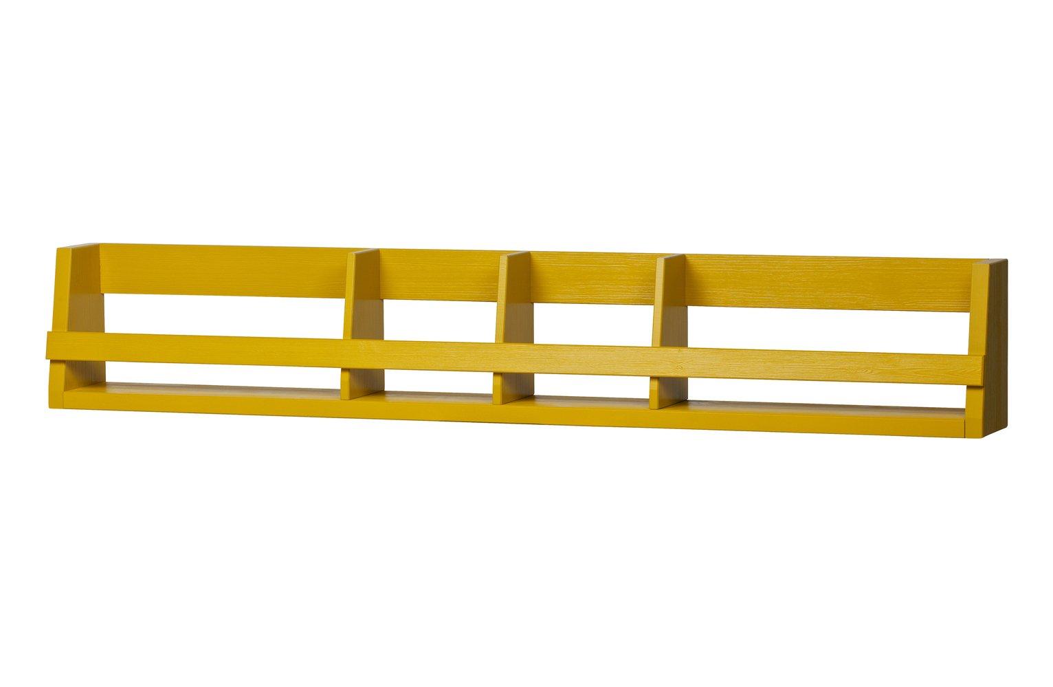 Woood Sammie Mustard Wall Shelf