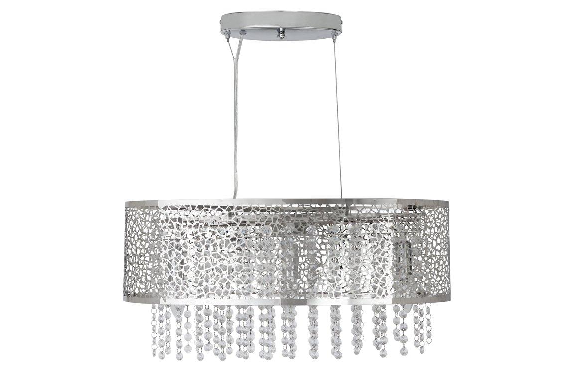 Argos Home Fretwork Oval Beaded Flush to Ceiling Light