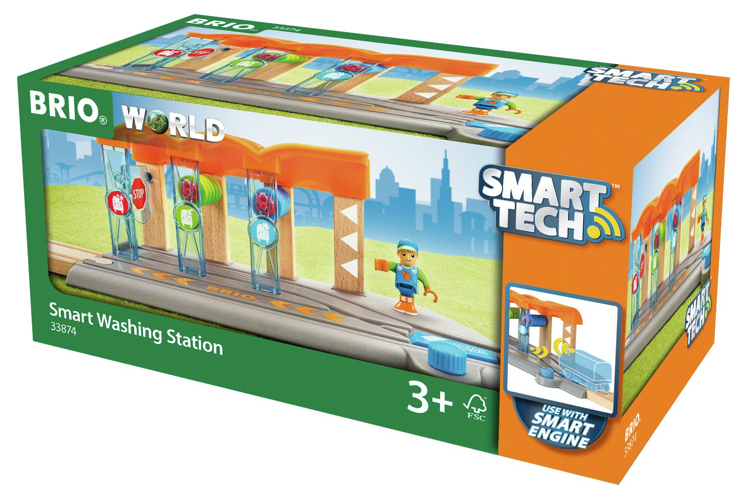 BRIO Smart Tech Washing Station Playset