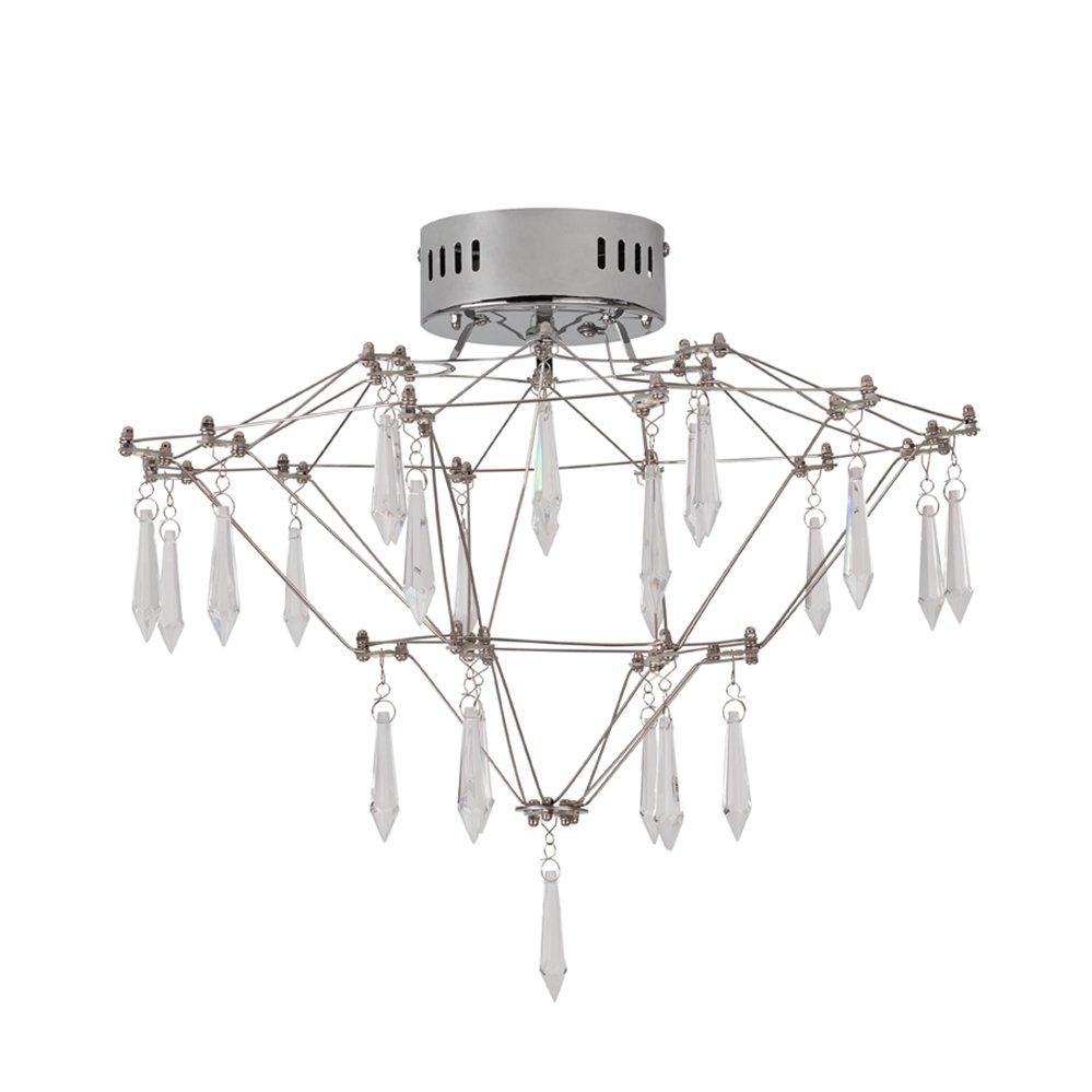 Argos Home LED Pointed Flush to Ceiling Light - Chrome