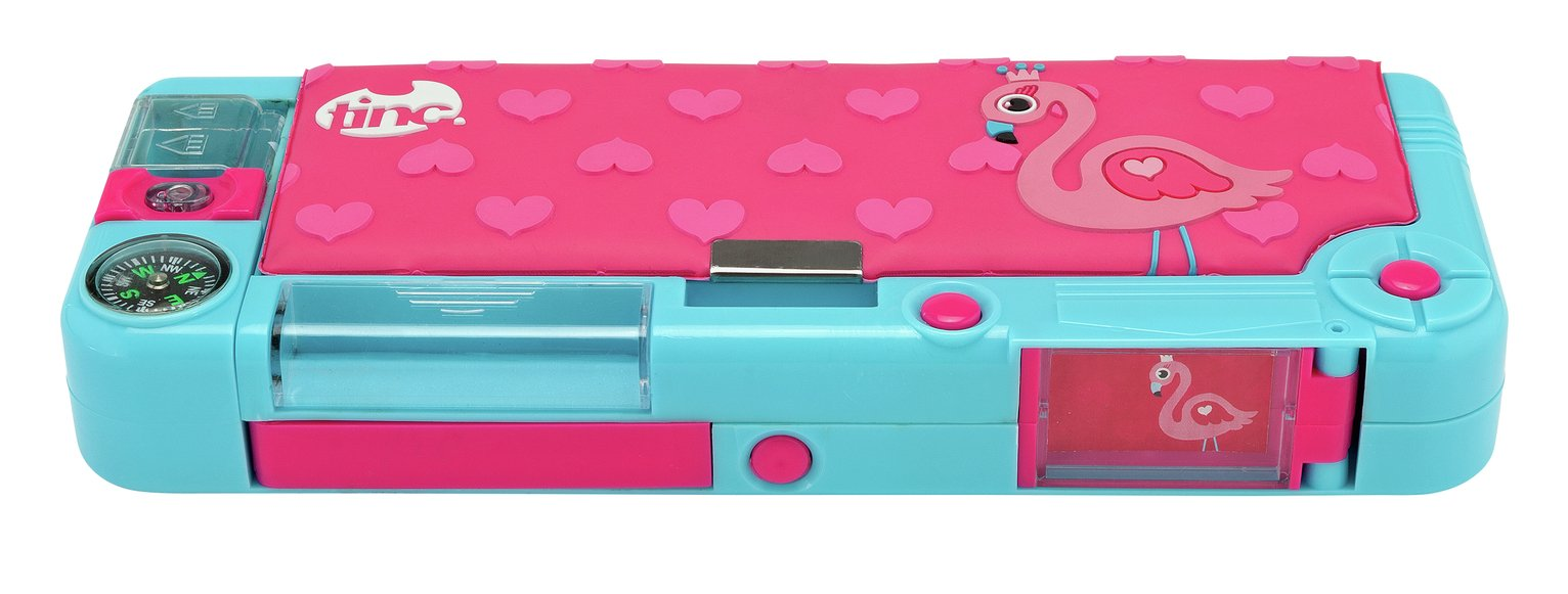 Tinc Flamingo Compartment Pencil Case