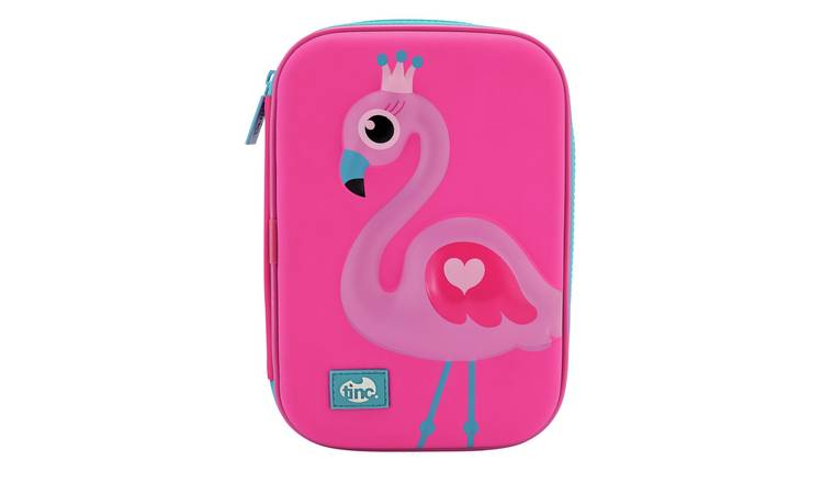Tinc Flamingo Embossed Pencil Case