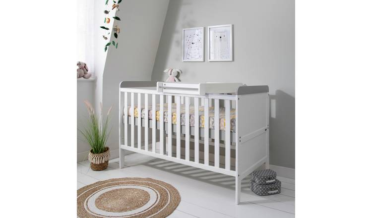 Tutti Bambini Rio Cot Bed & Changer with Mattress - White