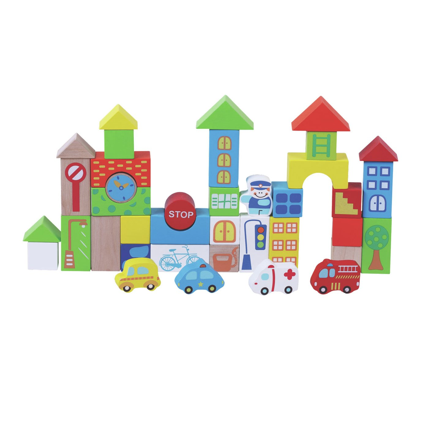 Jumini 40 Pieces Traffic Building Blocks