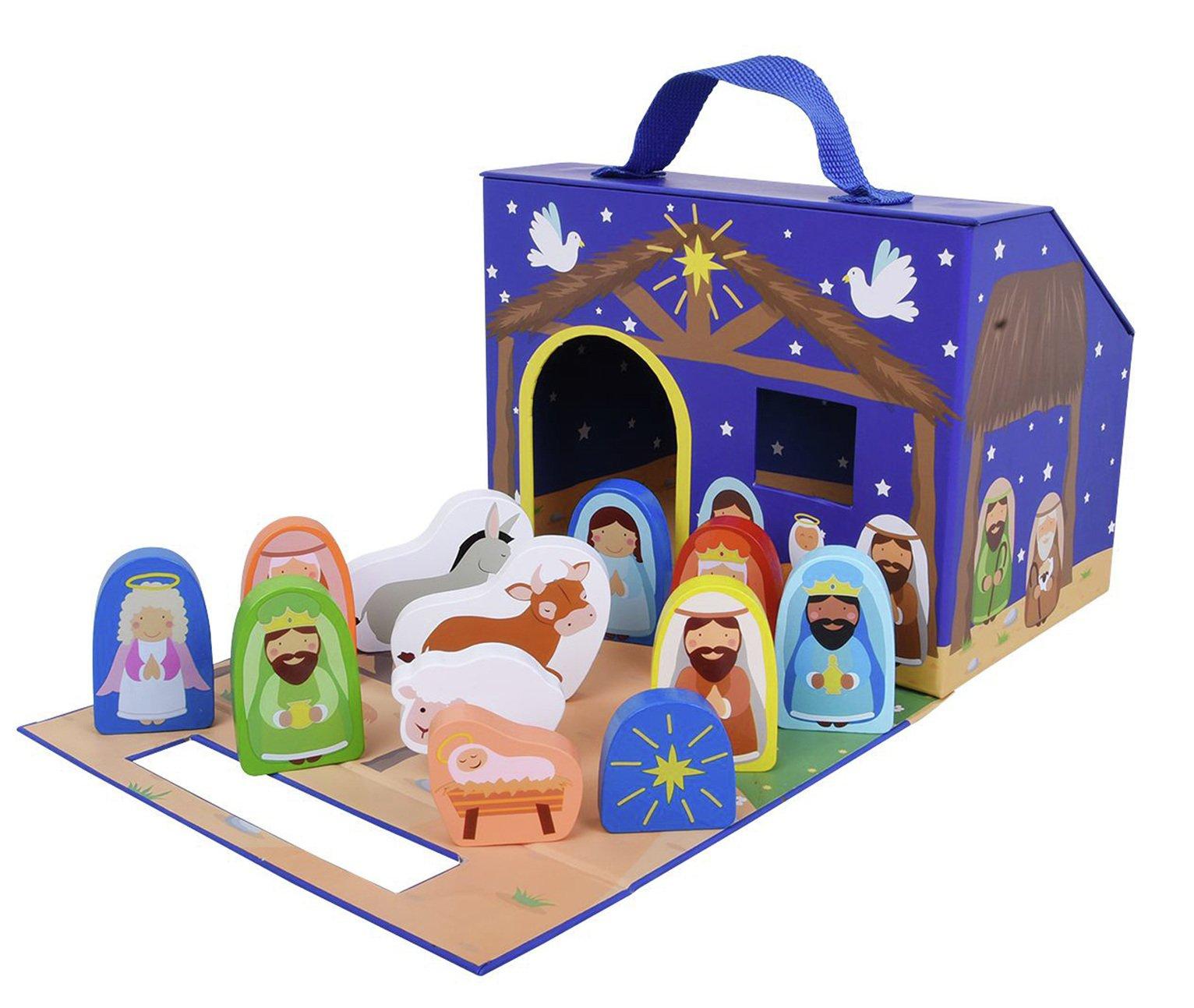 Jumini 12 Piece Foldaway Nativity Set