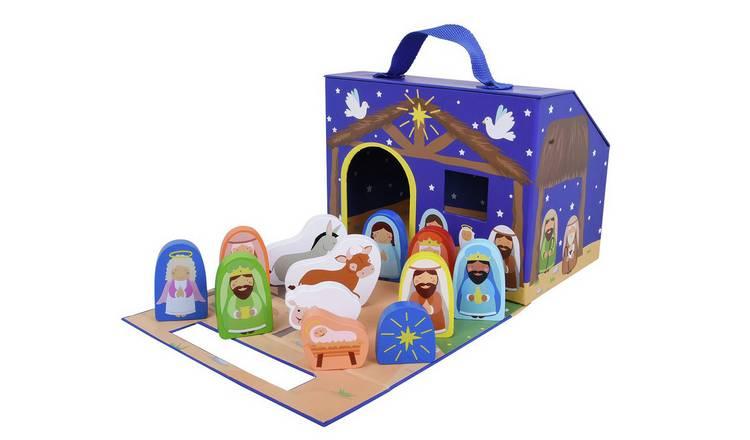 Buy Jumini 12 Piece Foldaway Nativity Set Playsets And Figures Argos