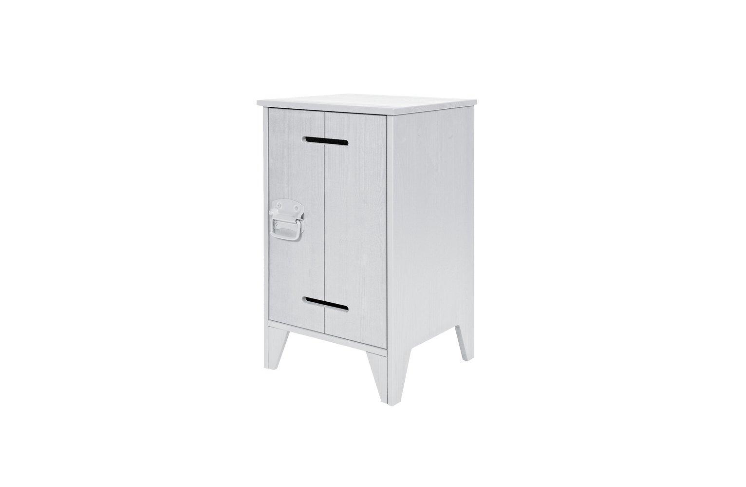 Woood Kluis Concrete Grey Bedside Cabinet