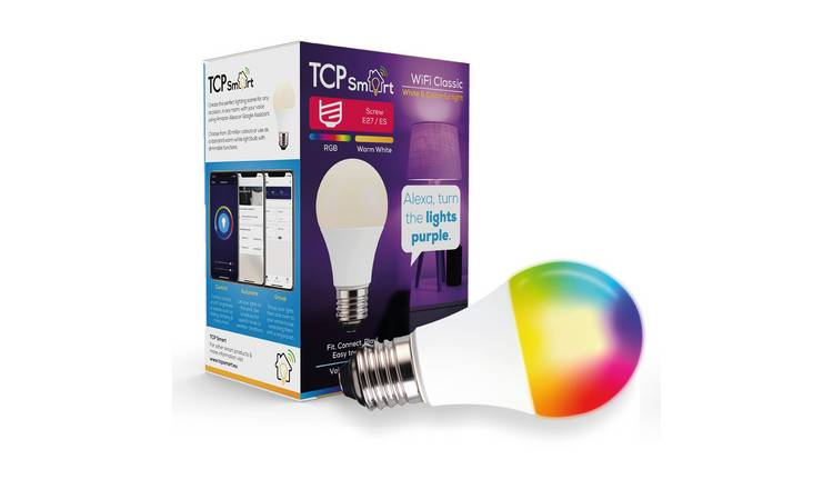TCP Smart Wi-Fi Multicolour E27 LED Bulb