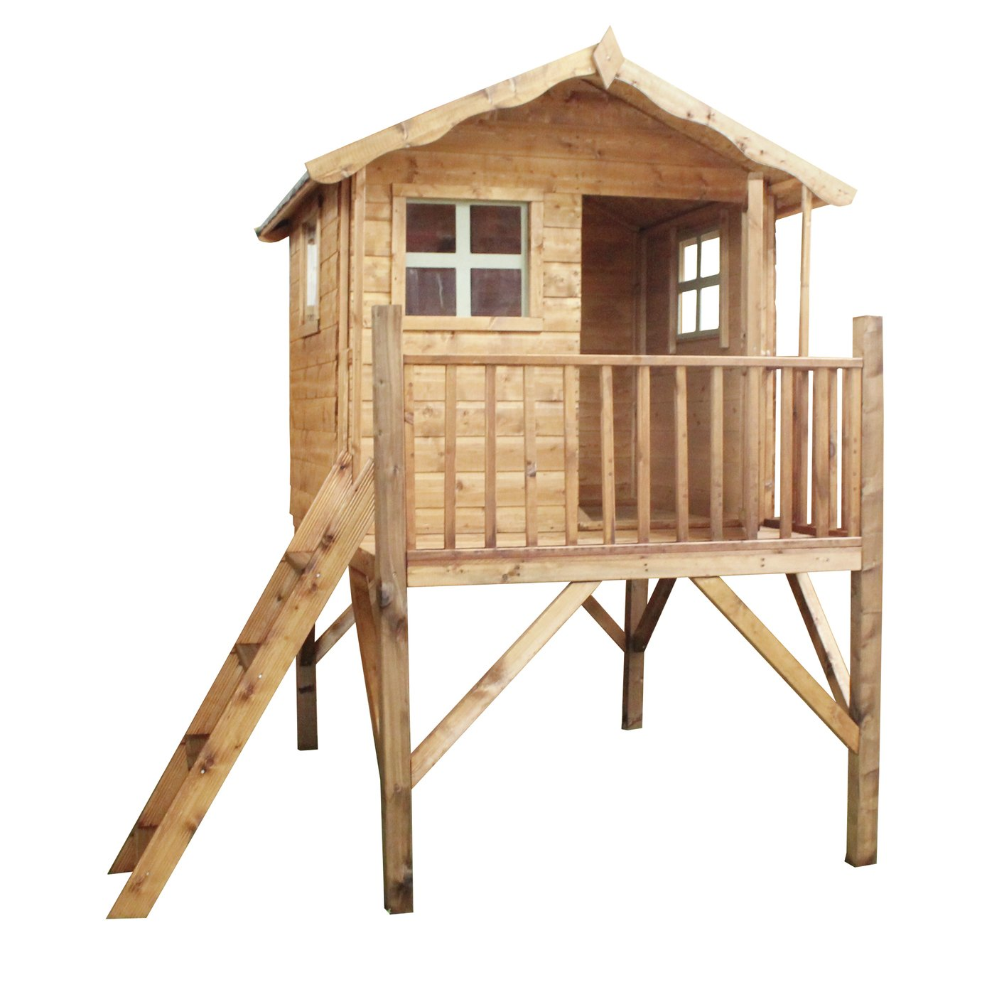 Mercia Tulip Wooden Playhouse with Tower