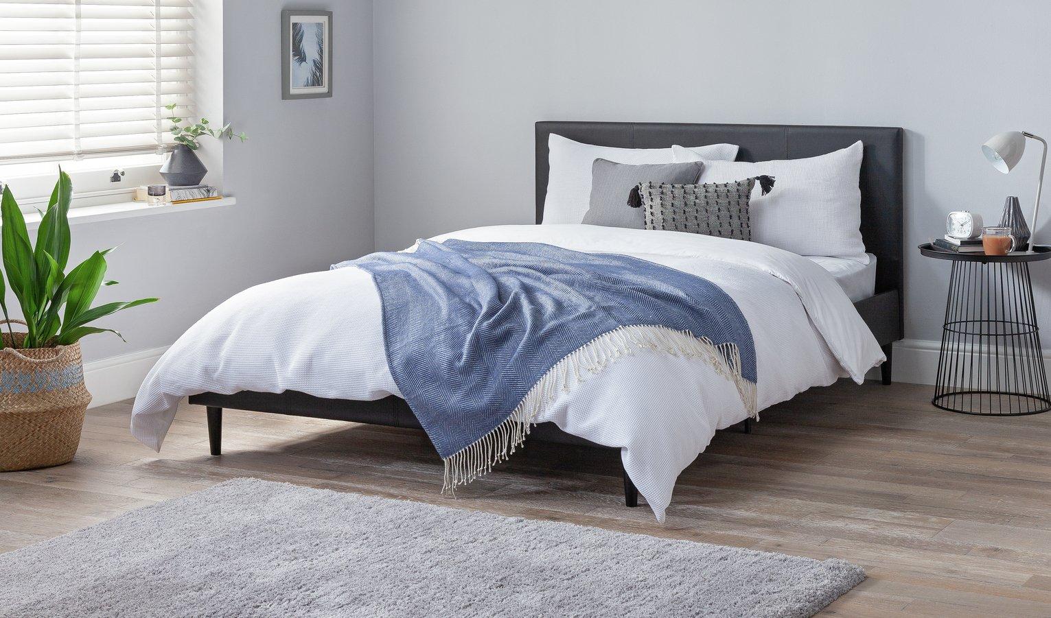 Argos Home Skylar Double Bed Frame - Black
