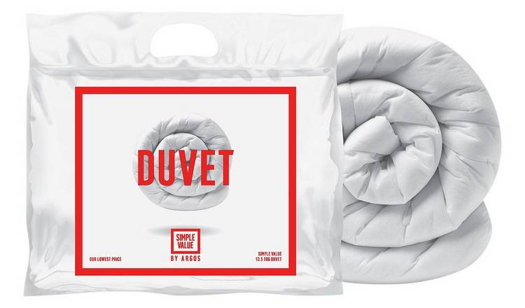 Argos Home Hollowfibre 13.5 Tog Duvet - Single