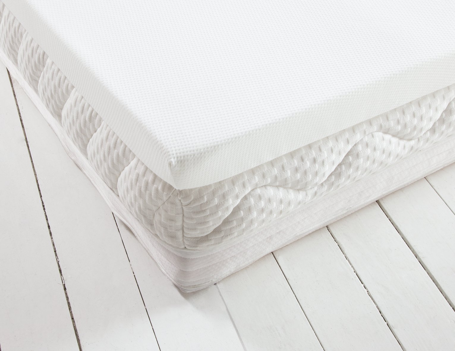 Argos Home Luxury Memory Foam Mattress Topper - Single