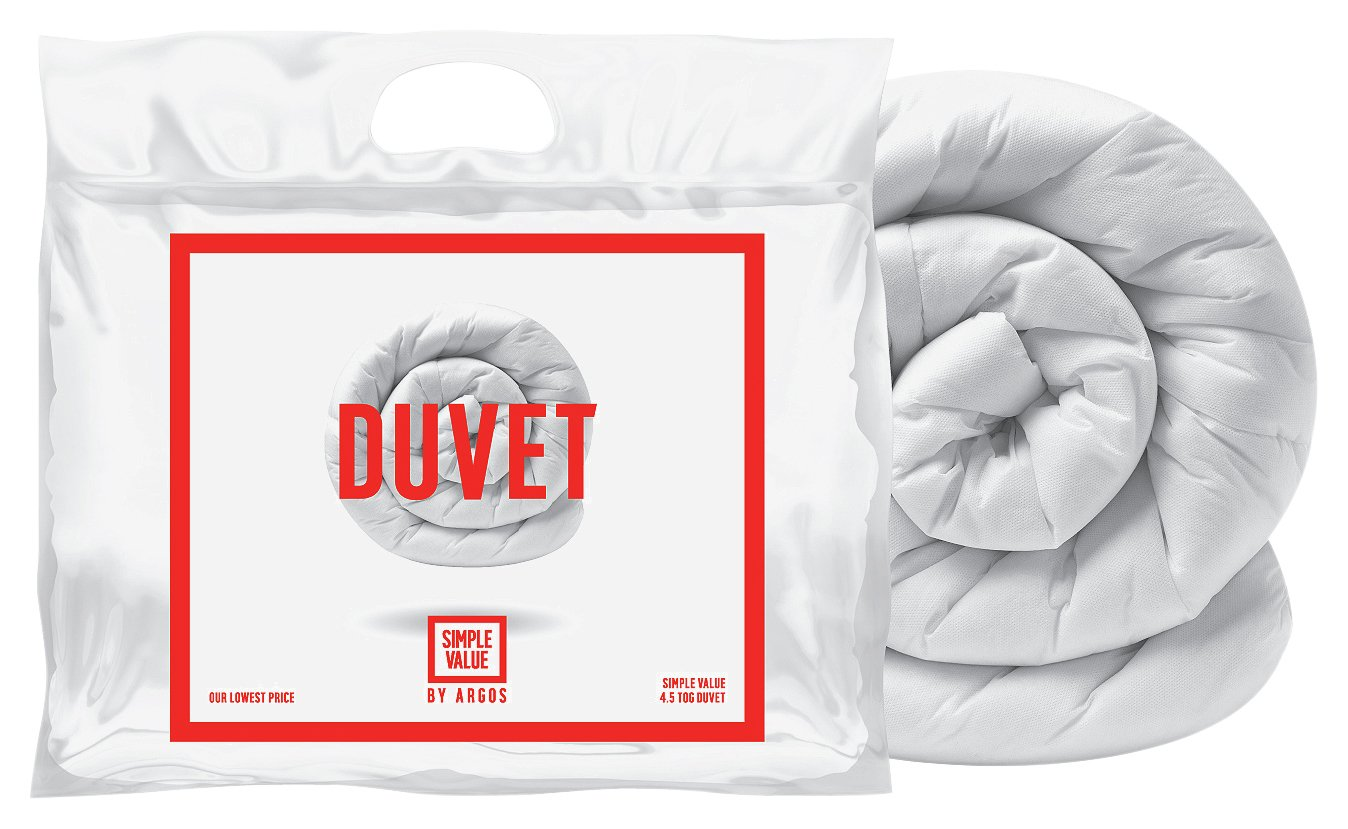 simple value 45 tog  duvet  double