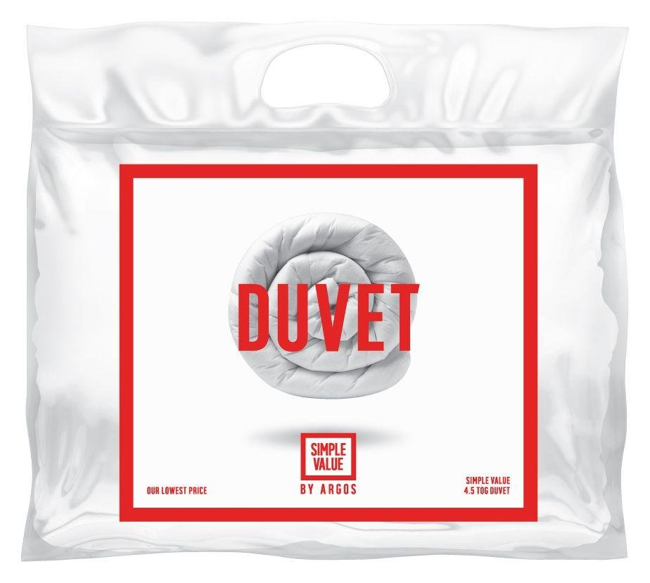 Buy Simple Value 4 5 Tog Duvet Double At Argos Co Uk
