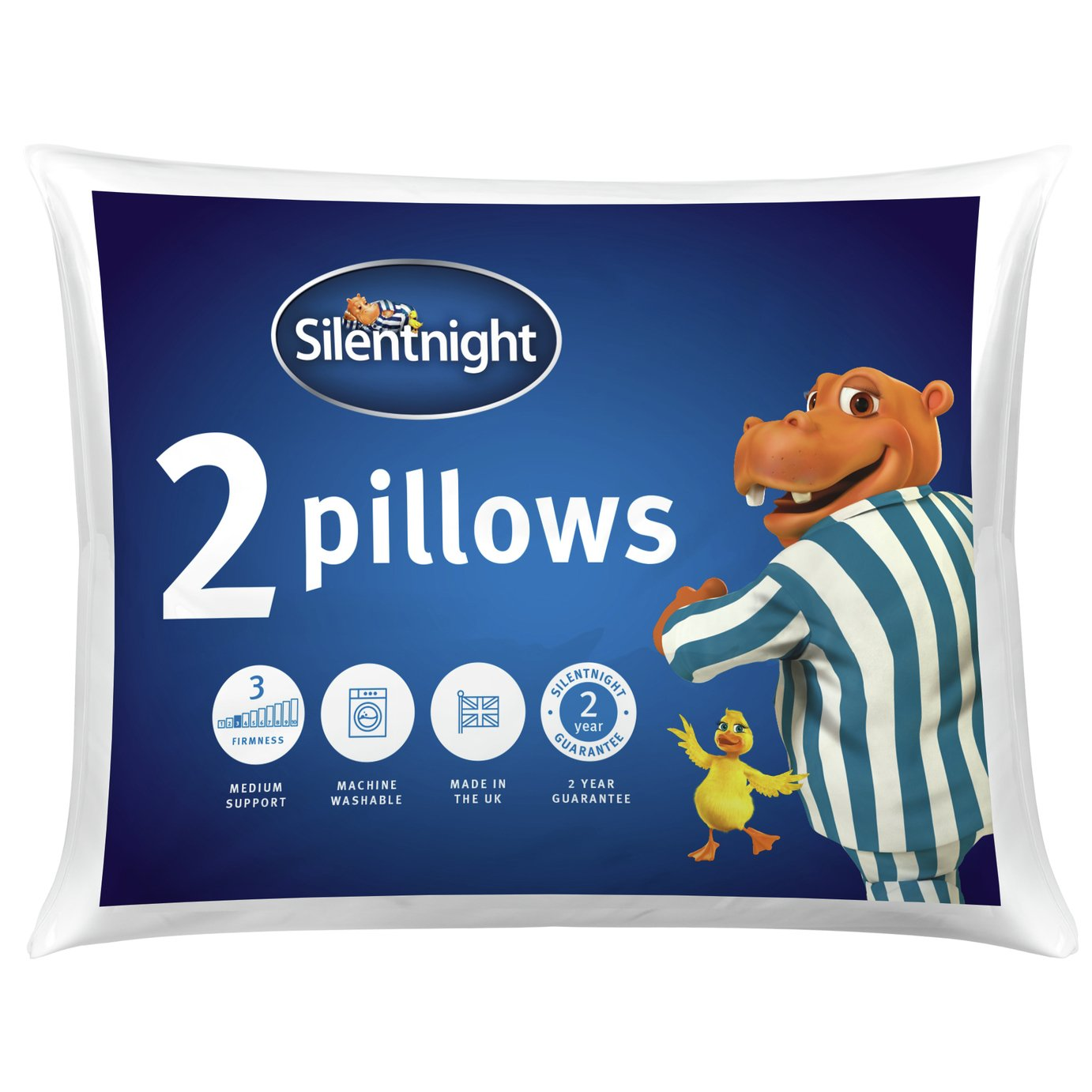 Silentnight Essentials Rolled Pillow - 2 Pack