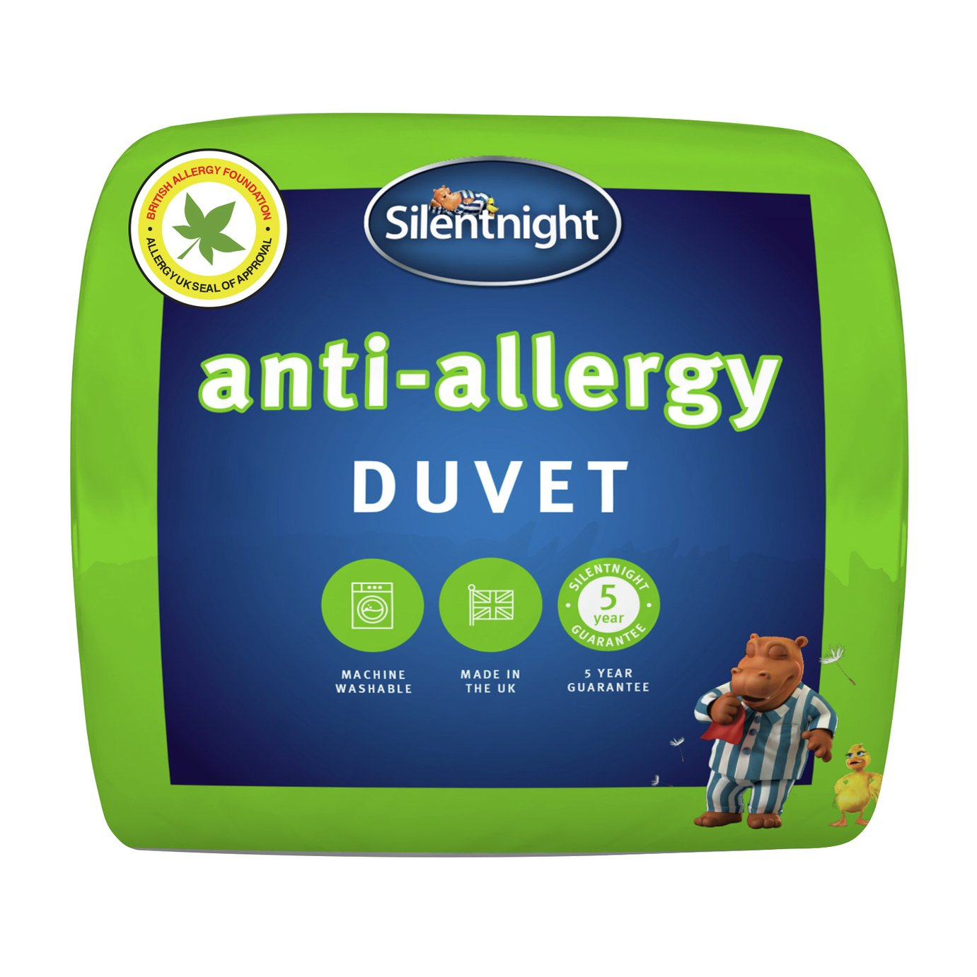 silentnight  antiallergy 105 tog  duvet  double