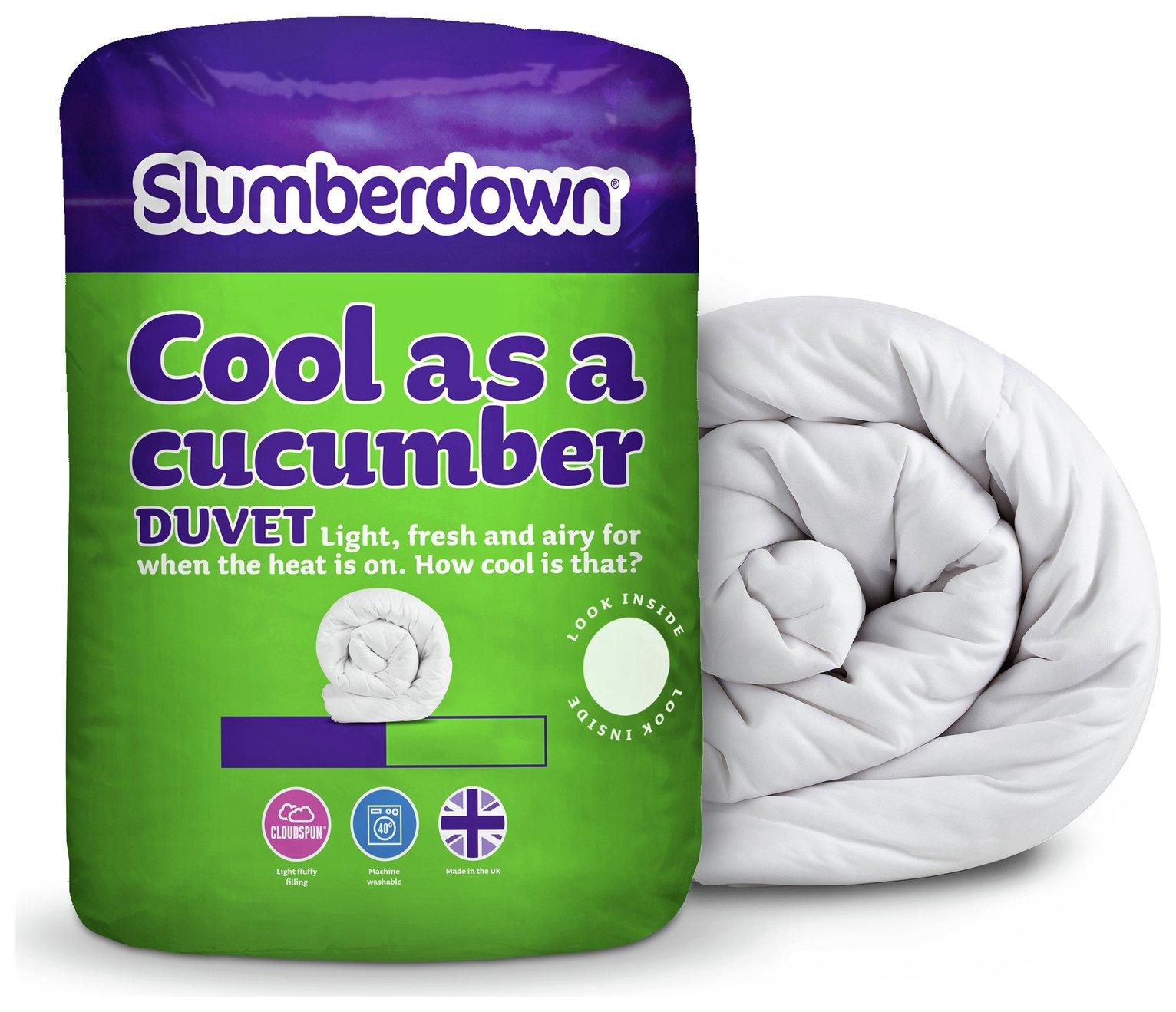 slumberdown  cool as a cucumber 45 tog  duvet  kingsize