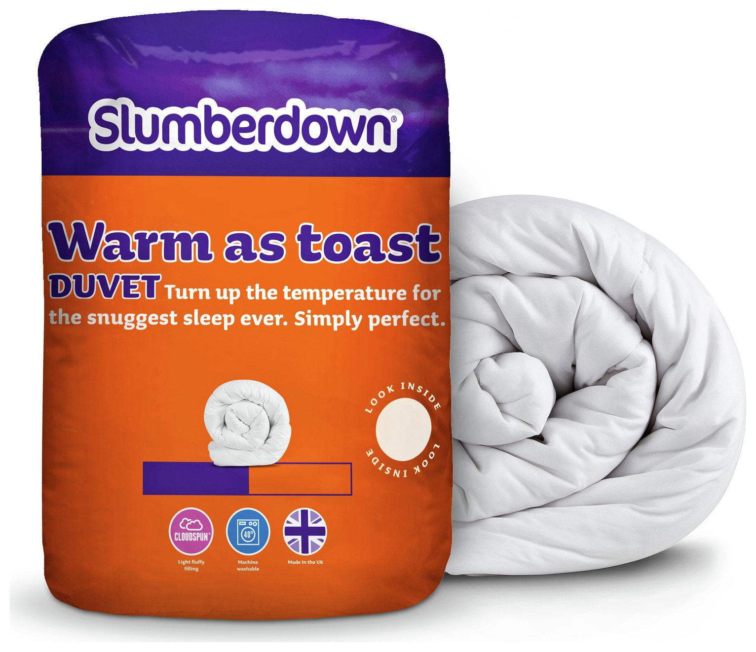 slumberdown warm as toast 13.5 tog duvet  double