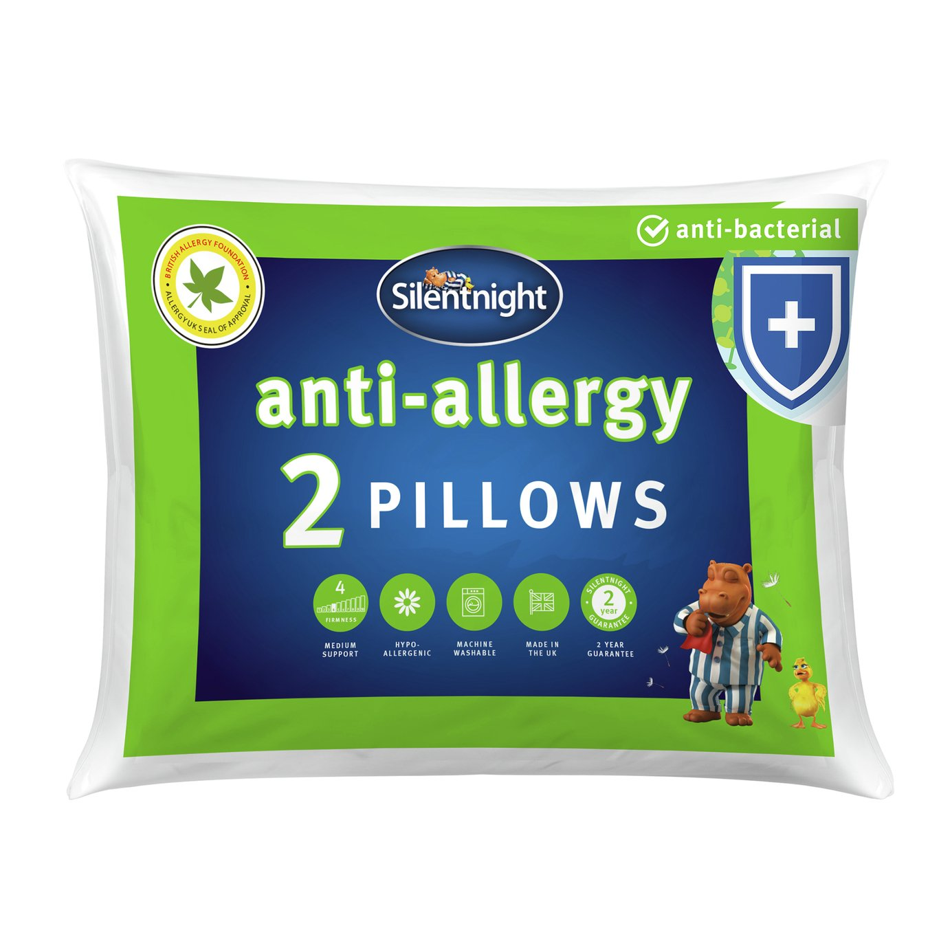 Silentnight Pair of Anti-Allergy Pillows