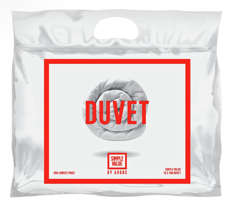 simple value 105 tog  duvet  double