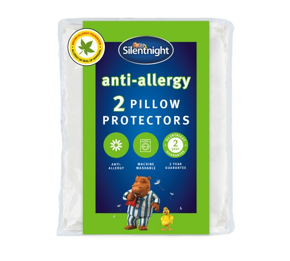 Buy silentnight anti allergy pair of pillow protectors at for Anti allergy pillow protector