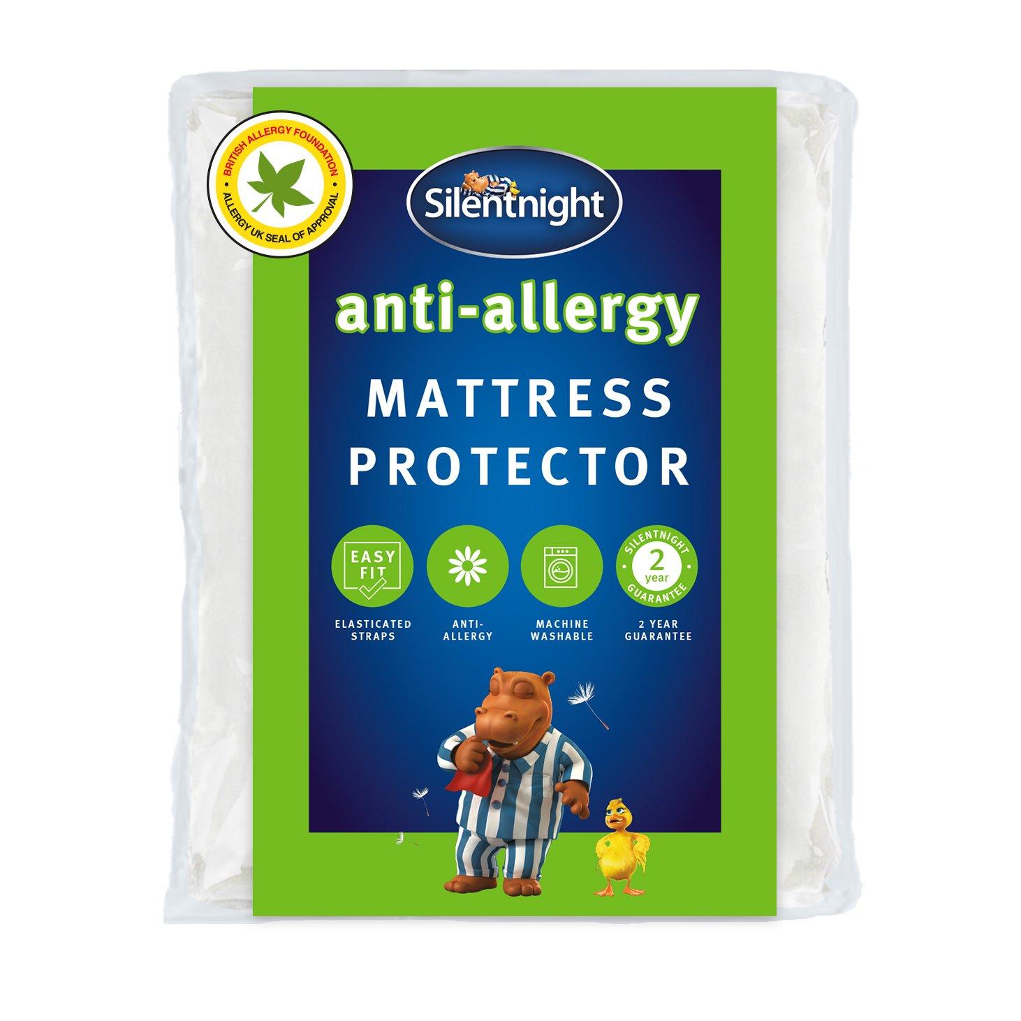 silentnight  antiallergy  mattress protector  single