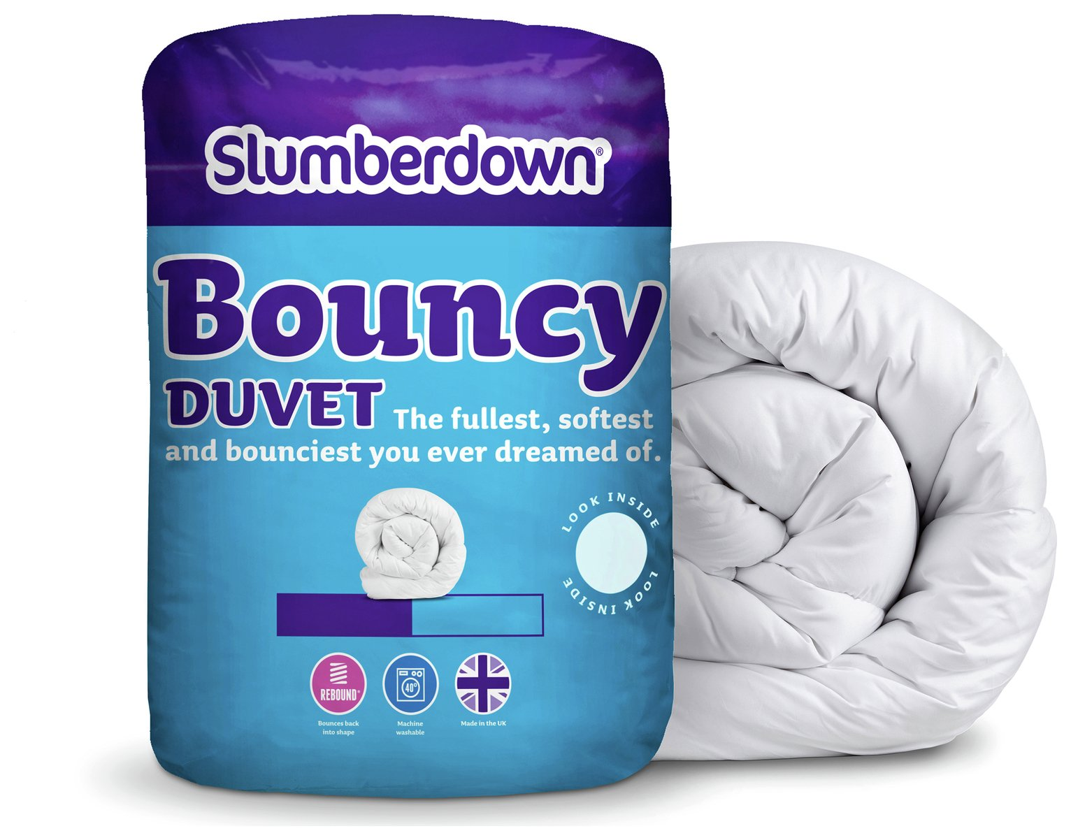 slumberdown  bouncy 135 tog  duvet  double