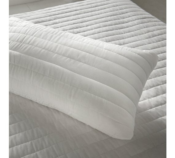 buy silentnight quilted mattress topper and pillow set. Black Bedroom Furniture Sets. Home Design Ideas