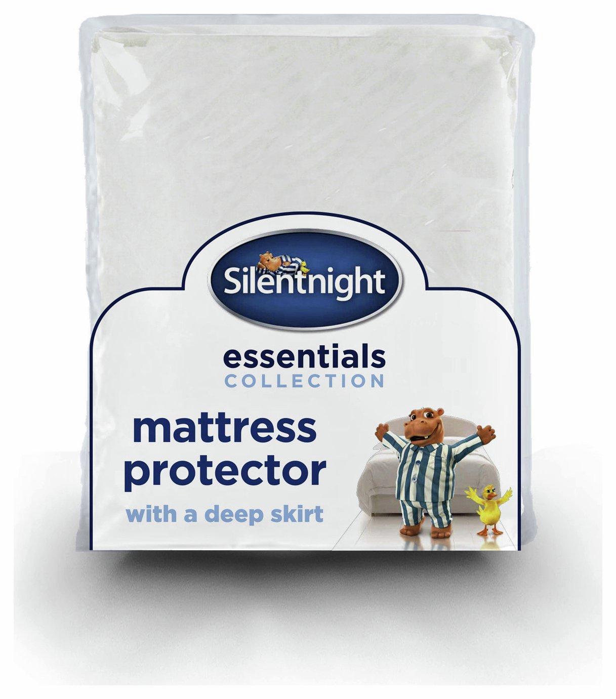 silentnight  deepskirt  mattress protector  single