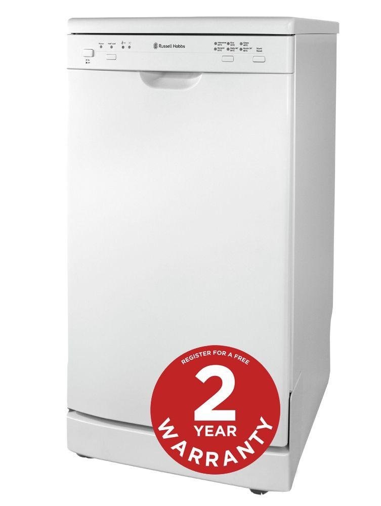 Image of Russell Hobbs RHSLDW2 Dishwasher - White.