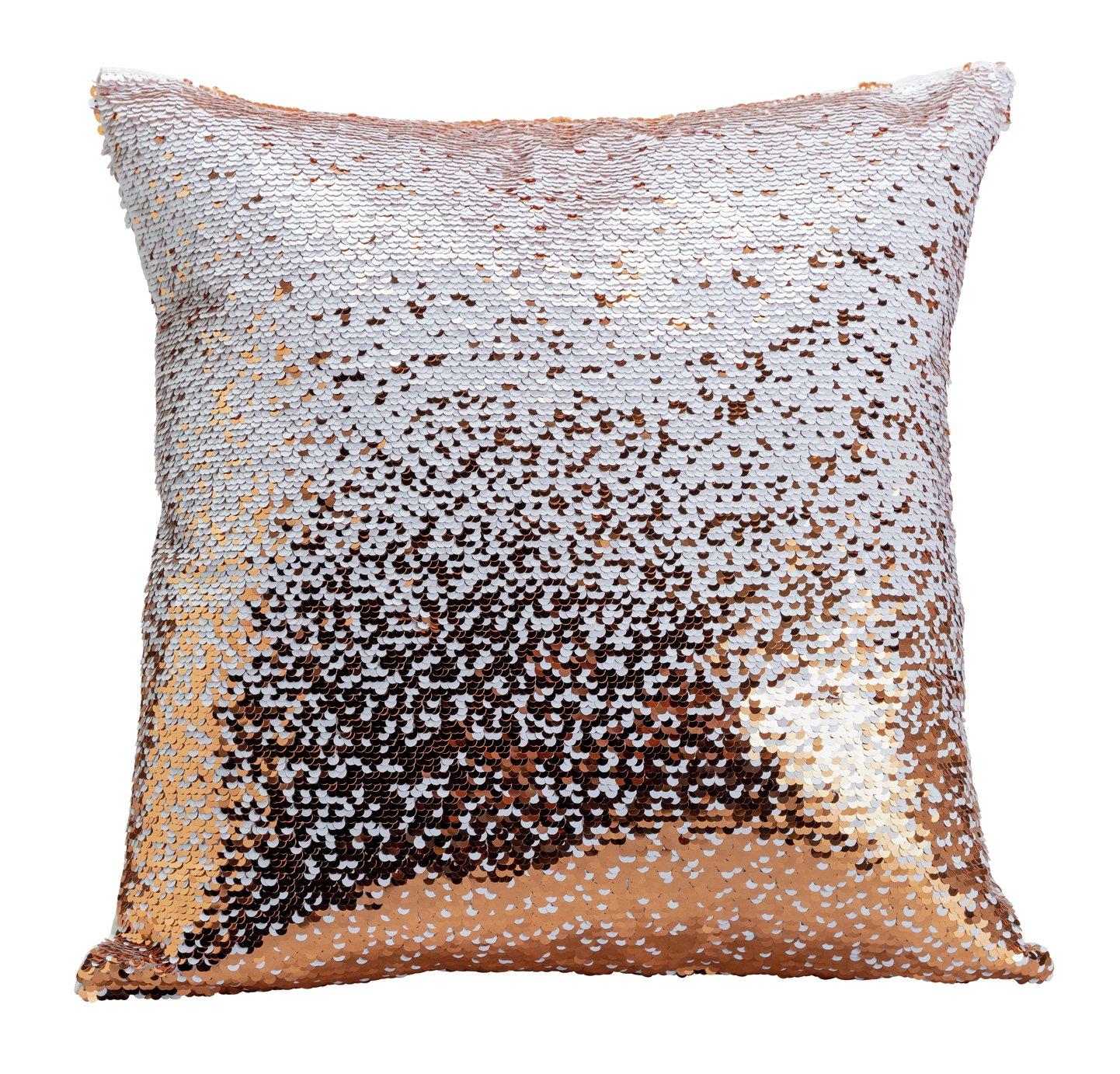 Argos Home Sequin Cushion - Black & Pink