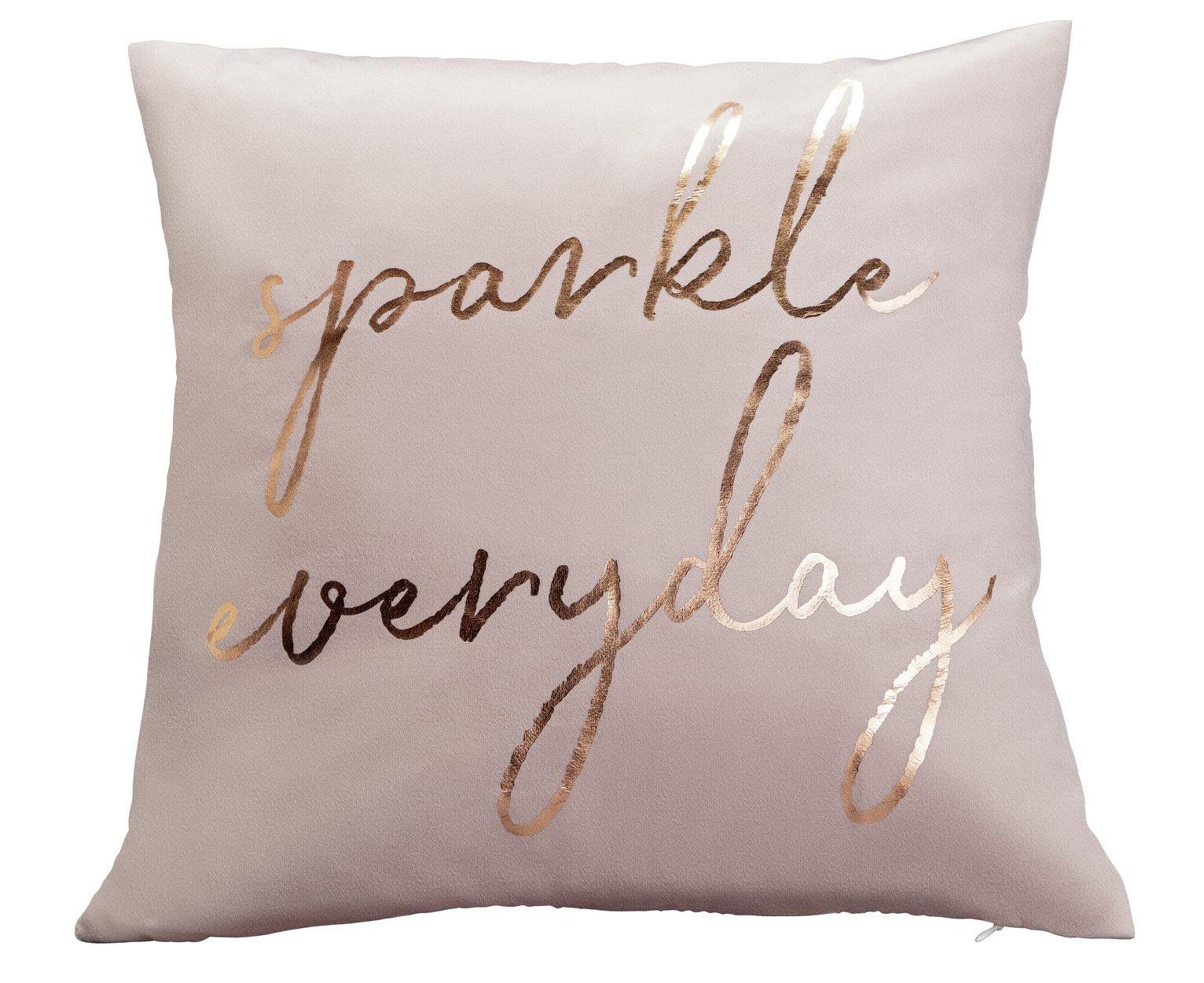 Argos Home Sparkle Everyday Velvet Cushion - Pink