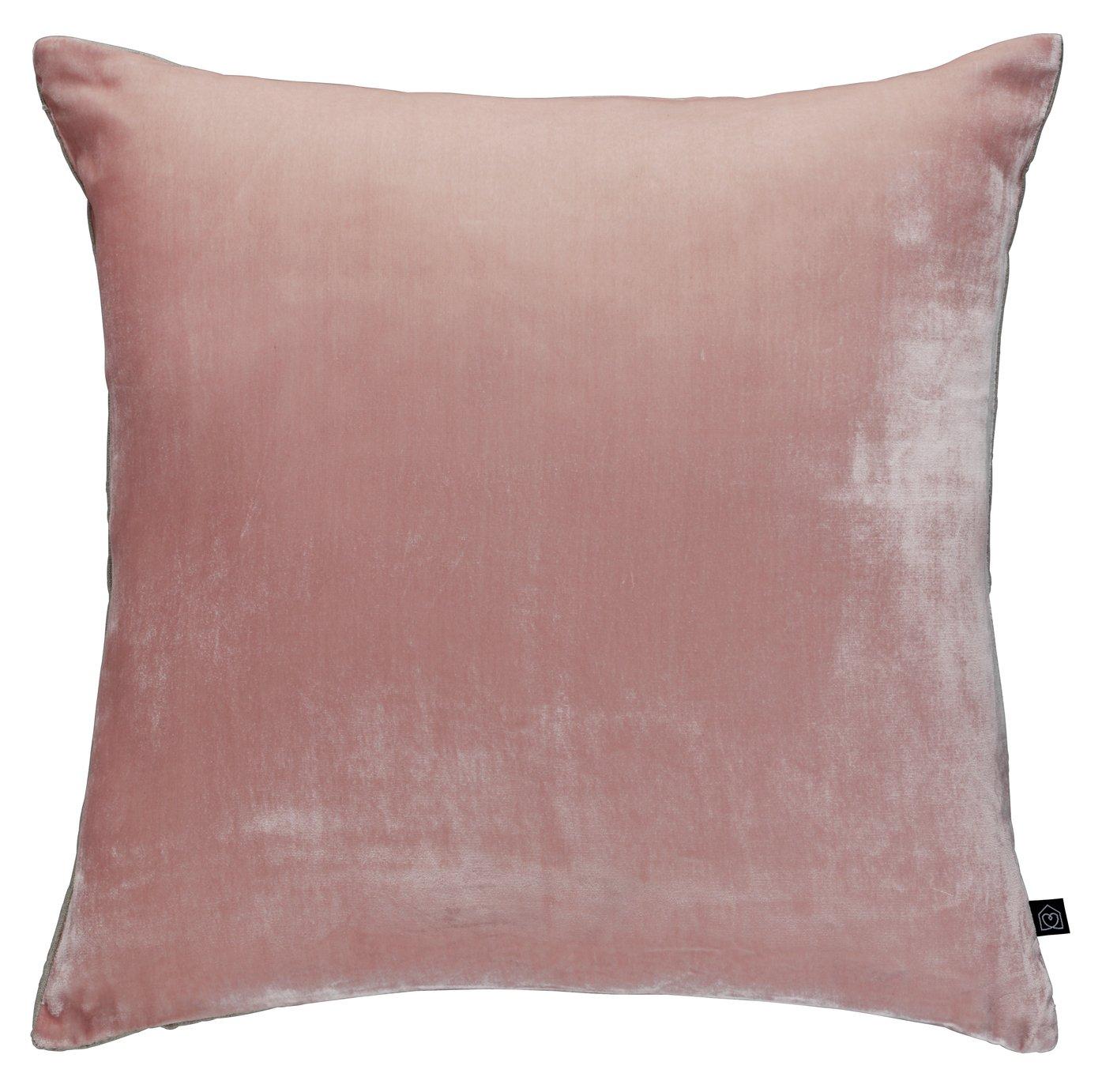 Argos Home Regency Velvet Cushion - Dusty Pink