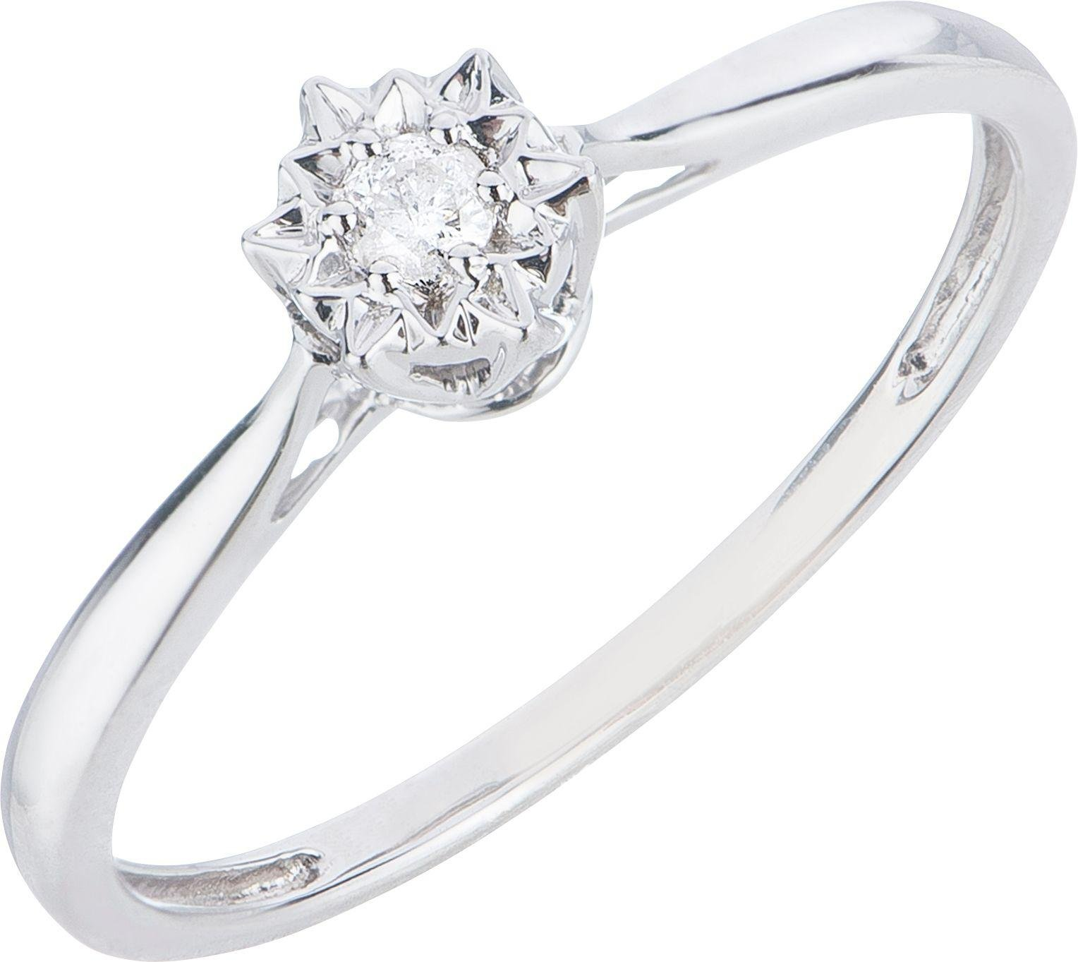 Buy 18ct White Gold Diamond Accent Solitaire Ring at Argos
