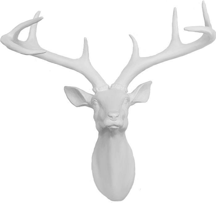 Image of Arthouse 3D Stag's Head - White