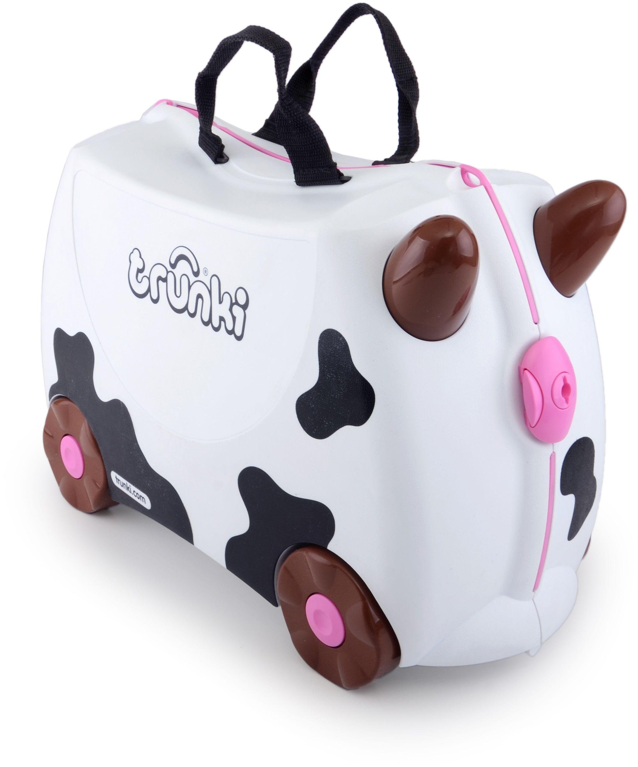 Trunki - Frieda the Cow Ride-On Suitcase - Black/White lowest price