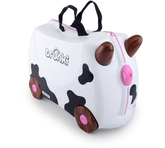 Buy Trunki Frieda the Cow Ride-On Suitcase - Black/White at Argos ...