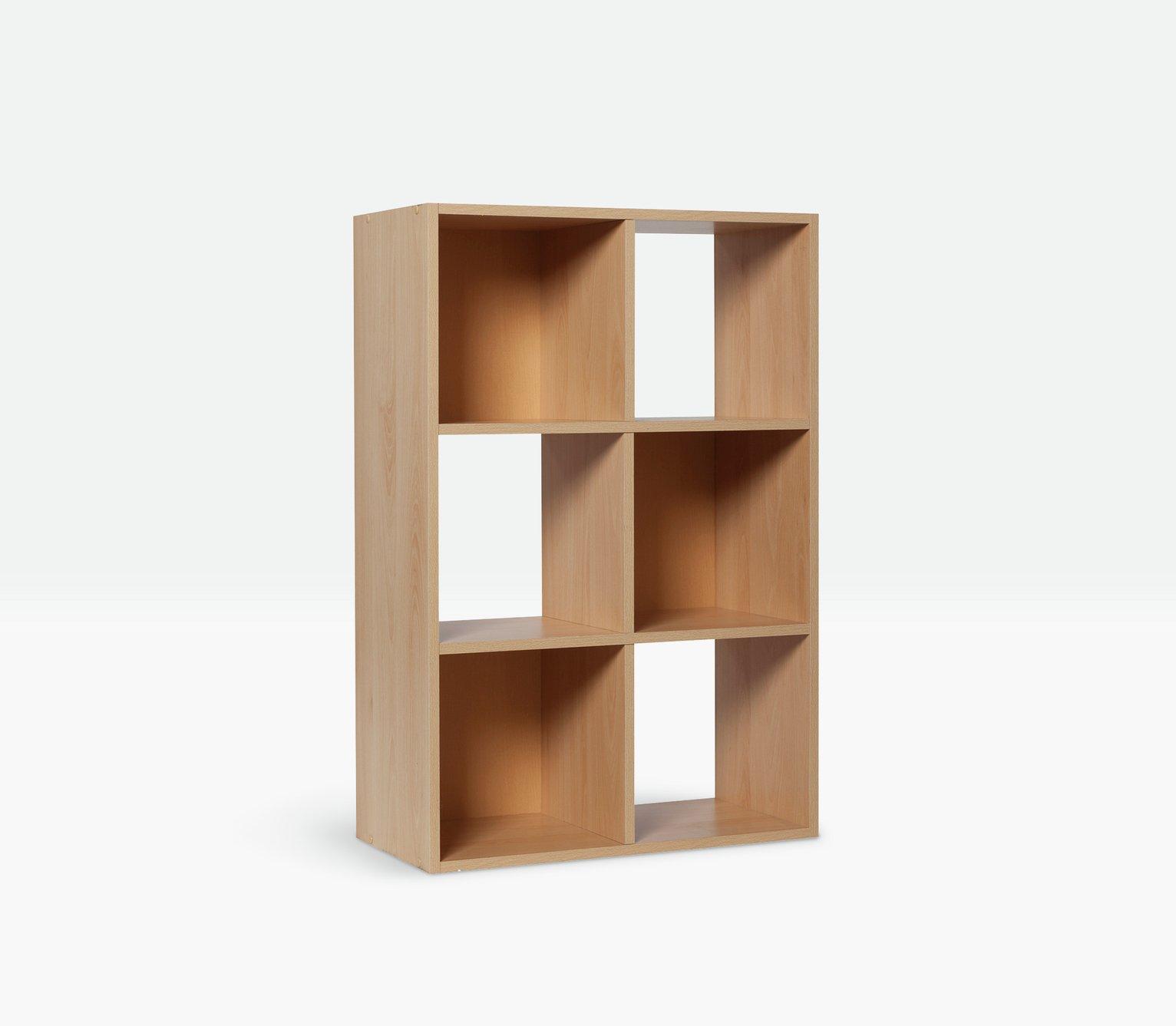 Argos Home Squares 6 Cube Storage Unit Beech Effect