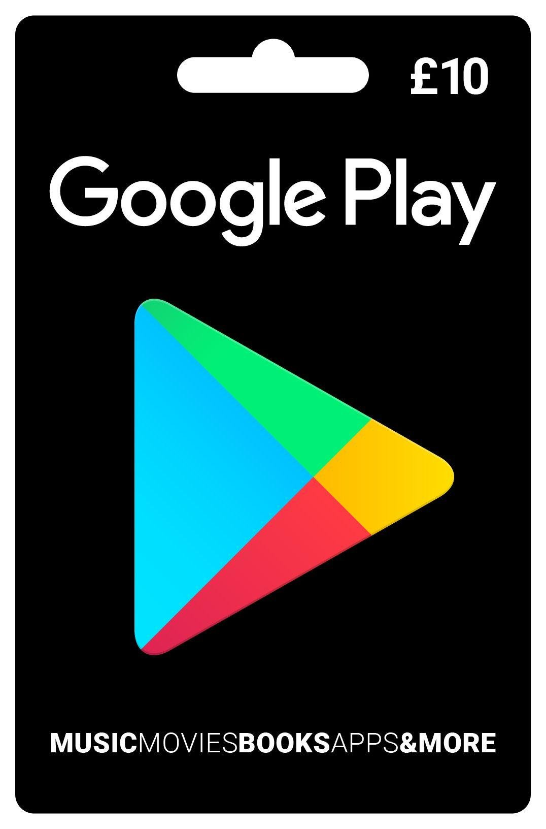 Image of 10 pounds Google Play Voucher