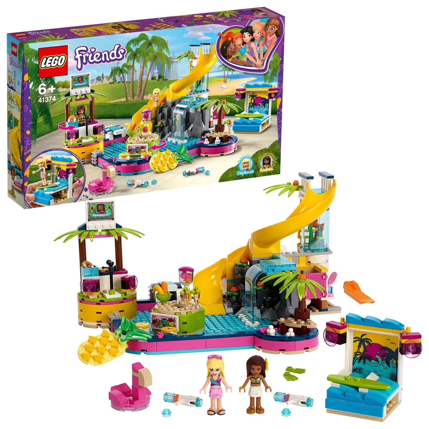 LEGO Friends Andreas Pool Party - 41374
