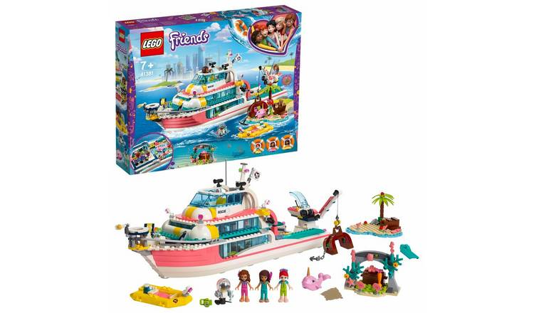 LEGO Friends Rescue Mission Boat Toy Sea Life Set - 41381