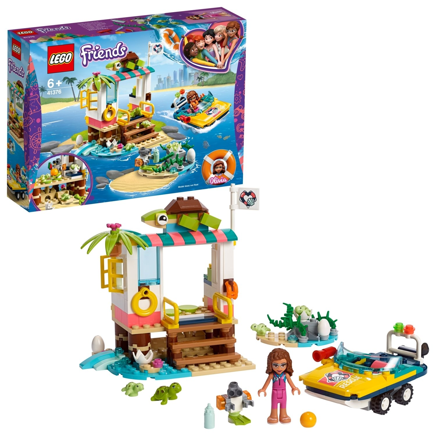 LEGO Friends Turtle Rescue Mission Playset - 41376