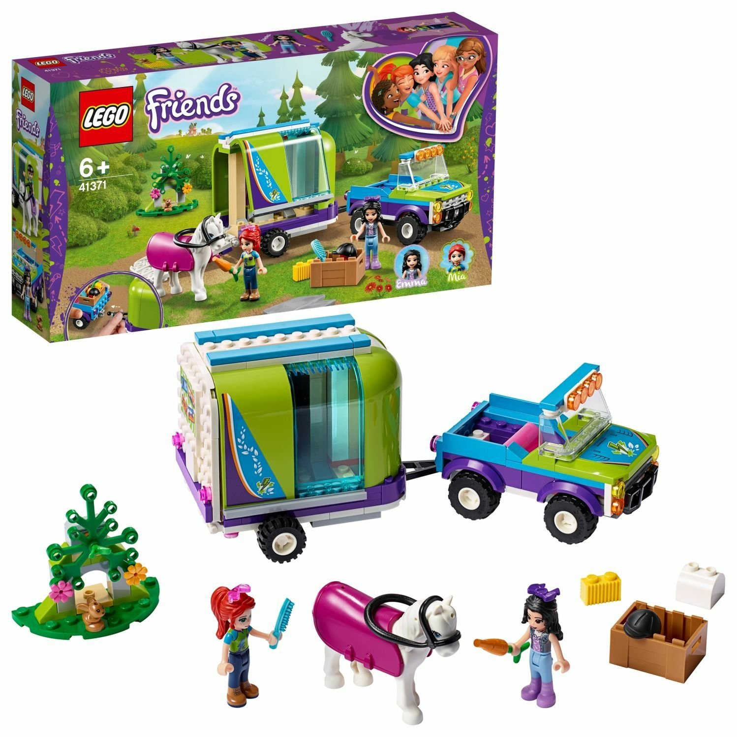 LEGO Friends Mia's Horse Trailer Stable Toy - 41371