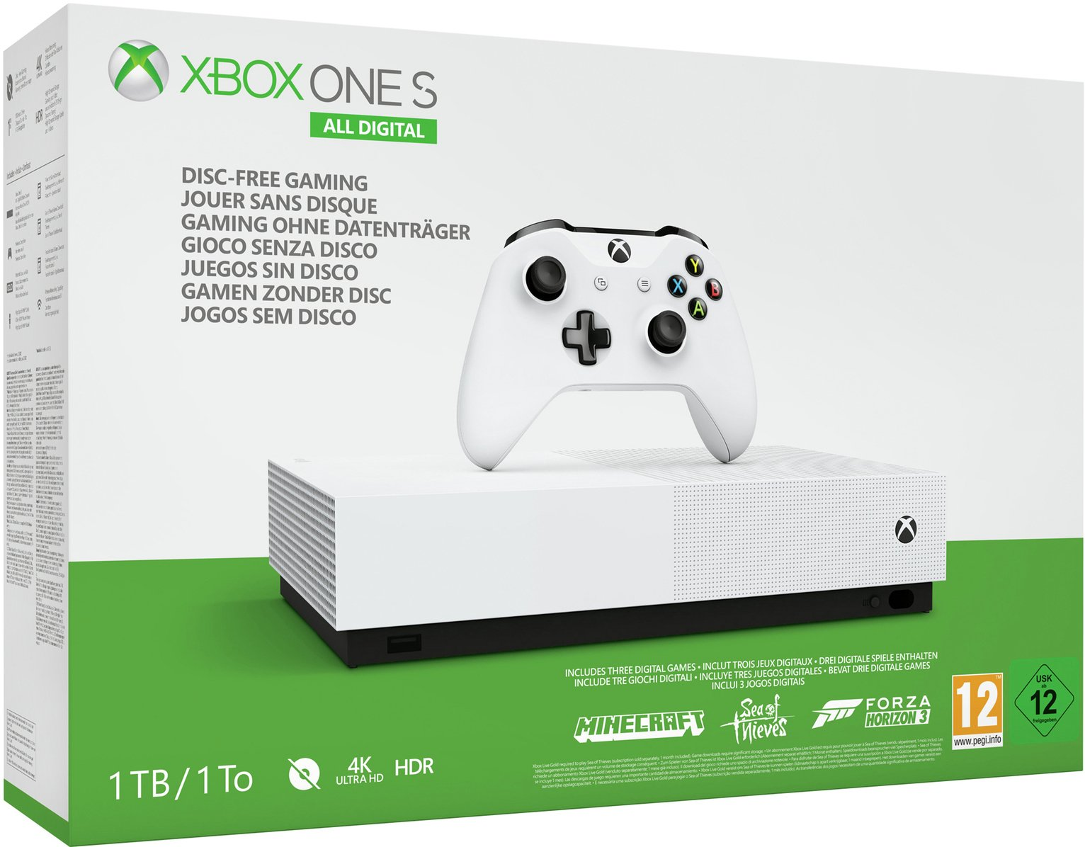Xbox One S All Digital Edition Console & 3 Game Bundle